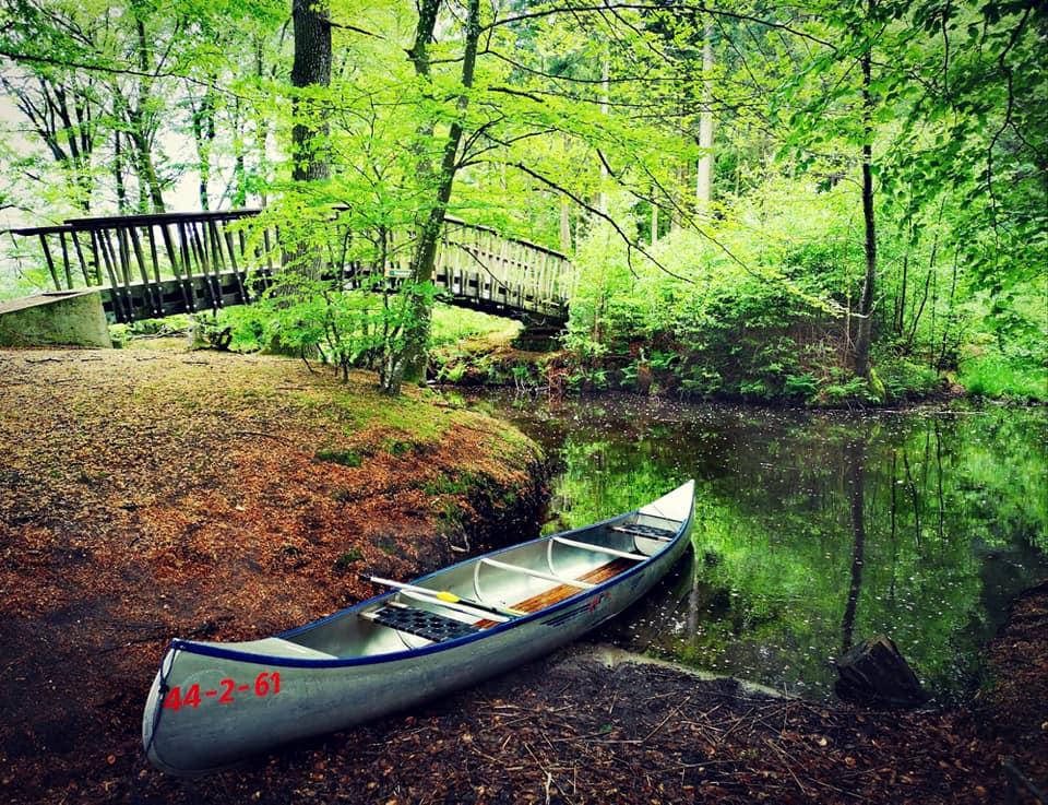 A canoe in Silkeborg