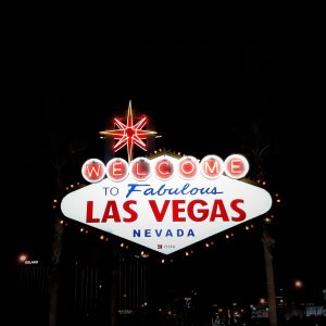 """A picture of the famous """"Welcome to Fabulous Las Vegas"""" neon sign"""