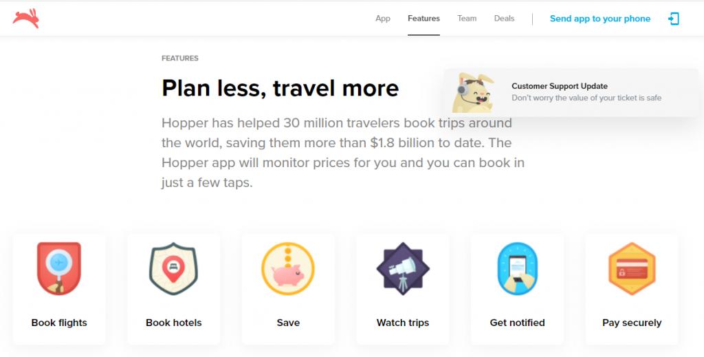 Best travel app - Hopper