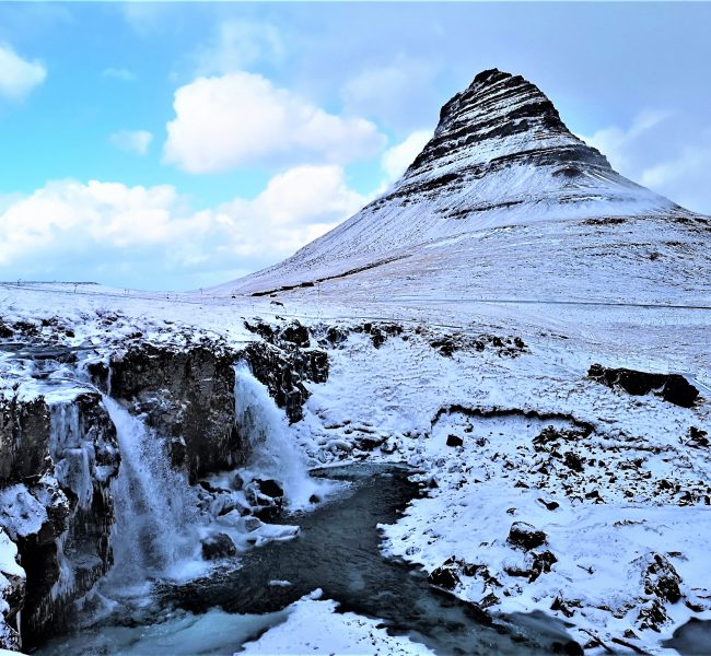 Kirkjufell with Kirkjufellsfoss