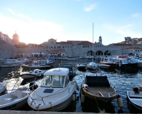 A picture taken at sunset, in Dubrovnik, Croatia.